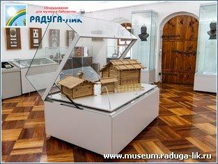Музейная витрина для горизонтальной экспозиции